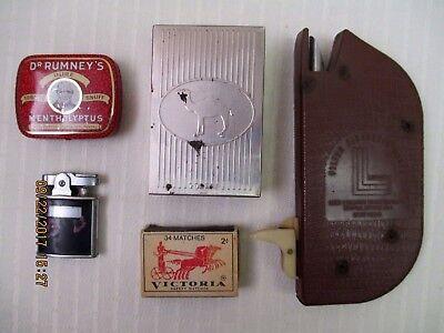 Offering Tobacco   Camel Case  Snuff Can  Ronson Lighter  Laredo Filter Maker