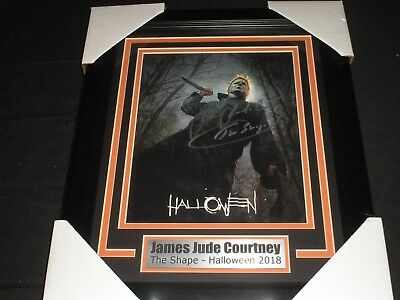 JAMES JUDE COURTNEY Signed 2018 Halloween 8x10 Photo FRAMED Michael Myers F