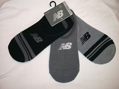 New Balance Men's No Show Lifestyle Socks 3 Pairs Multi Color Size (L)  New Balance Sport Socks