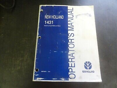 New Holland 1431 Discbine Disc Mower Conditioner Operators Manual  86979375