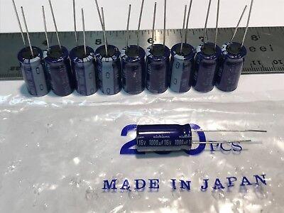 Lot Of 10 New Nichicon Audio Grade Electrolytic Capacitors 1000uf 16v Japan