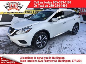 2015 Nissan Murano Platinum, Navi, Leather, Panoramic Sunroof, A