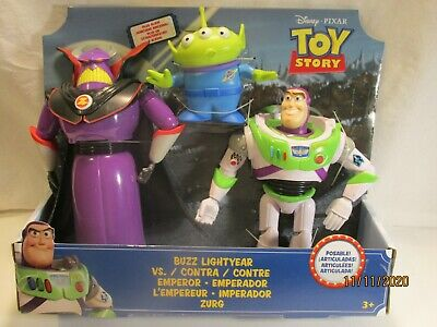 Buzz Lightyear vs. Emporer Zurg 3 Pack action figures Toy Story 4 (Disney Pixar)
