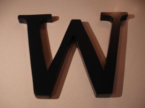 "Pottery Barn Kids Navy 8"" Wood Wall Letter - ""W"""
