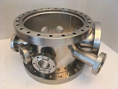 Cylindrical Multi-port Vacuum Chamber W 2x10 Cffs 8 Other Smaller Cffs