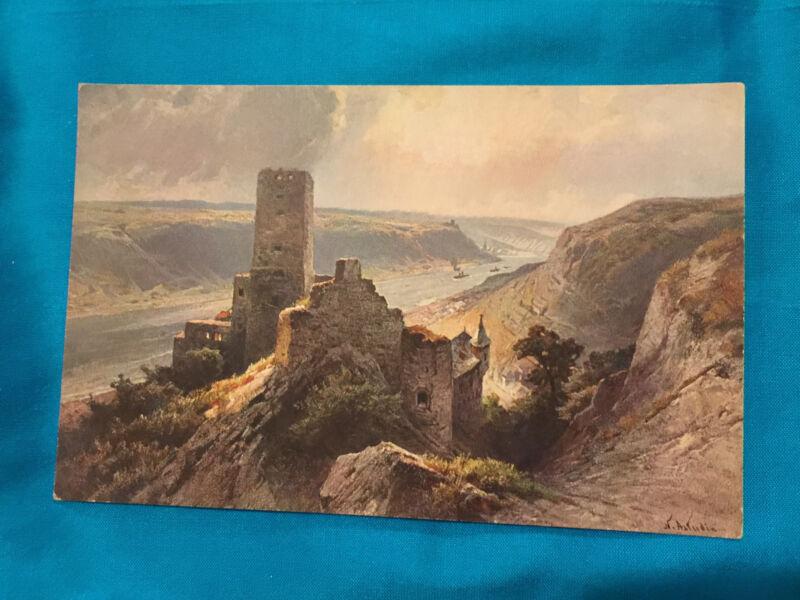 VINTAGE GERMAN POSTCARD GERMANY CASTLE OF  GUTENFELS  Artist Signed