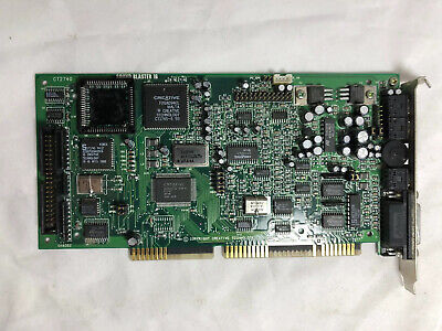 CREATIVE LABS SOUND BLASTER 16 ISA Card for IBM PC CT2740 IDE Interface Vintage