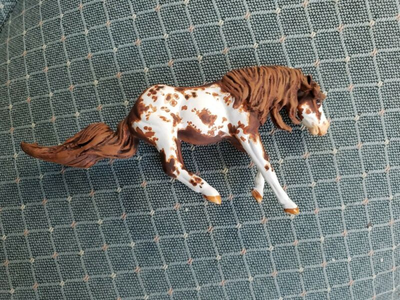 Breyer Custom Horse Stablemate Reiner, Added Mane,Tail Pinto/Paint