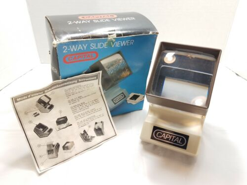 Vintage Capital 2-WAY SLIDE VIEWER/ Working condition/ with box and instructions