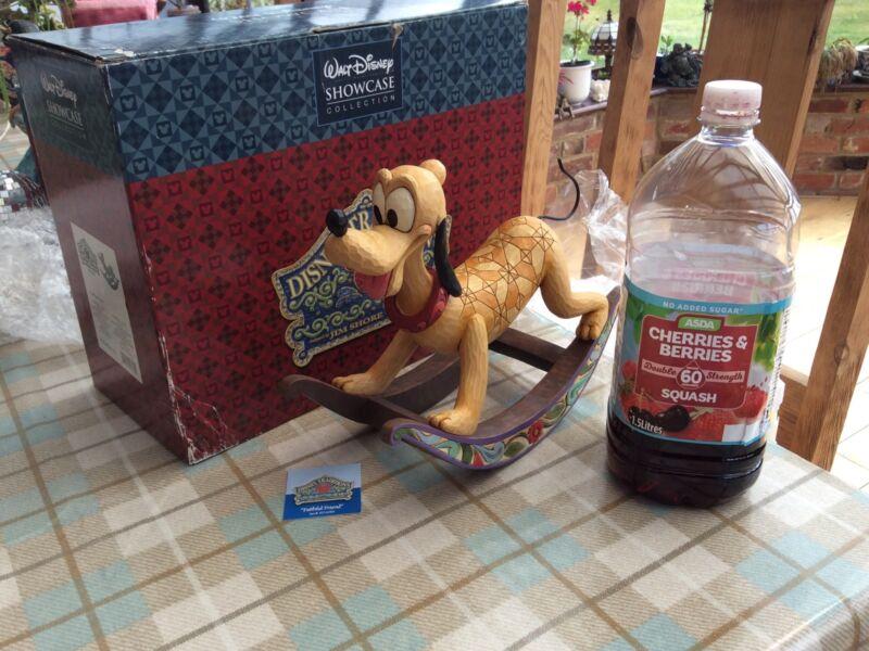 """V Rare Disney Tradition Large 'pluto-rocking Horse' Faithful Friend 11"""" Boxed"""