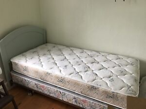 Single Bed, Mattress and Boxspring