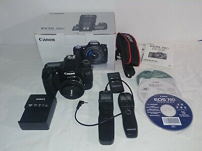 Canon EOS 70D 20.2MP Digital SLR w/ EF-S IS 55-250mm Lens plus Extras