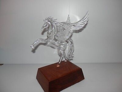 Vintage Horse Pegasus Figurine Hand Blown Glass Crystal Signed R.M. No #54, 1982