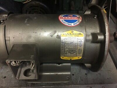 Baldor Electric Motor Cm3610t Fr 182tc 3hp 208-230460 Volt 3450 Rpm