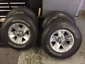 Aluminum wheels and Michelin tires
