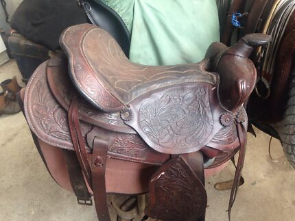 Red Ranger Western roping saddle Lower King Albany Area Preview