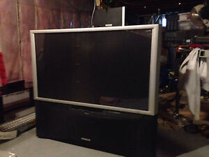 """46"""" Hitachi  projection TV with stand"""