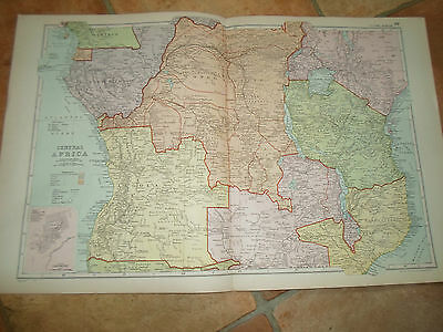 Old Map CENTRAL AFRICA From Bacon's Popular Atlas Of The World - 1907 (No 39)