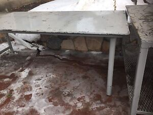 Metal industrial tables