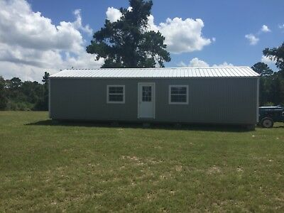 16 X 40 Portable Office Or Lake Cabin Building Sheetrocked With Electric