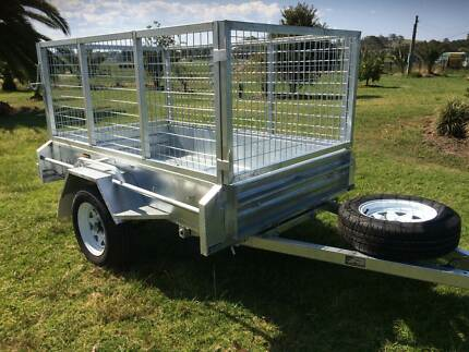 7x4 HEAVY DUTY GALVANISED TIPPING BOX TRAILER / 800mm CAGE Kemps Creek Penrith Area Preview