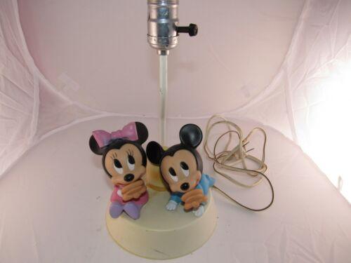 Vintage Mickey & Minnie Mouse night lite Lamp 1984 Walt Disney Dolly Toy Inc #2