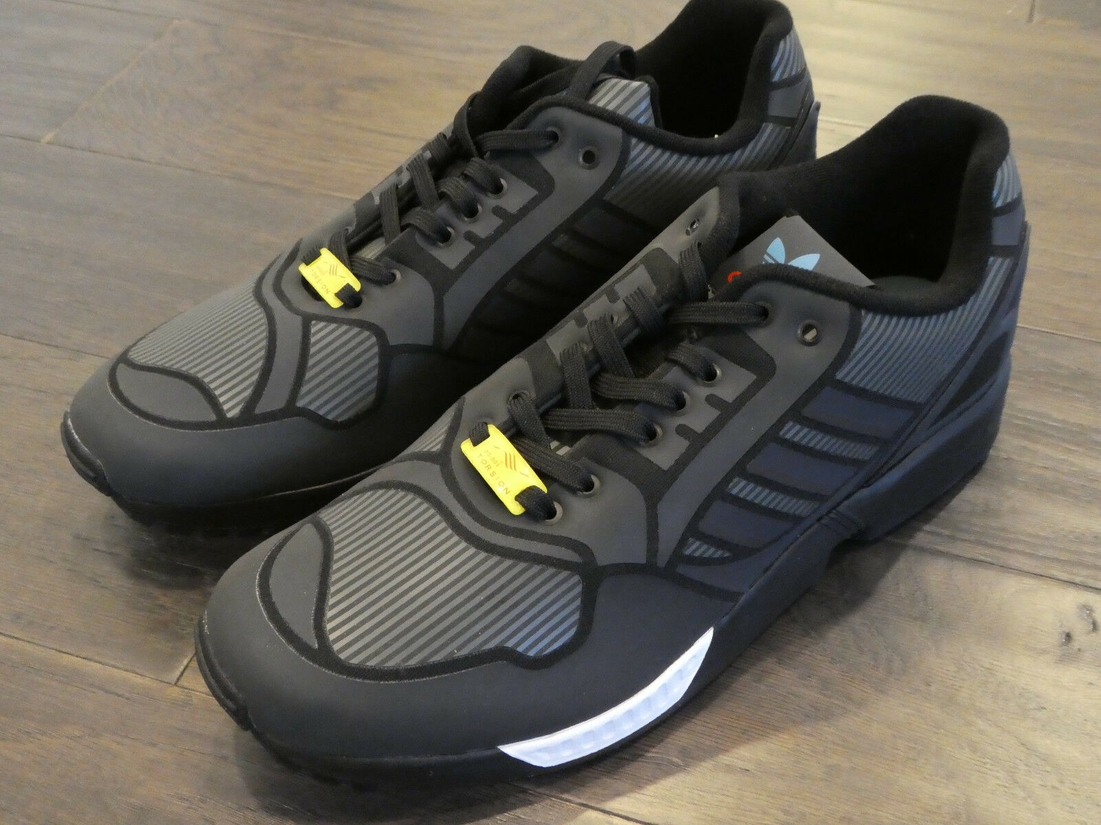 finest selection 08029 c811d Adidas ZX Flux shoes mens new sneakers trainers 3M B54177 black