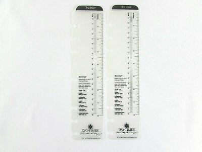Day Timer Today Marker Ruler 7-ring 8 Lot Of 2 Planner Divider Folio Size