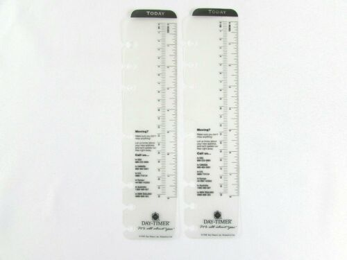 "Day Timer Today Marker Ruler 7-Ring 8"" Lot of (2) Planner Divider Folio Size"