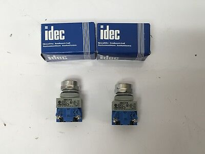 2 New Idec Abw110-b Industrial Push Button Switch 120-600v 10a