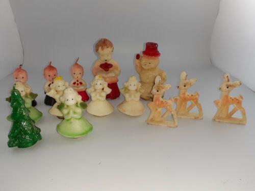 Vintage Gurley Socony Oil Christmas Candles Deer Angels Choir 1950