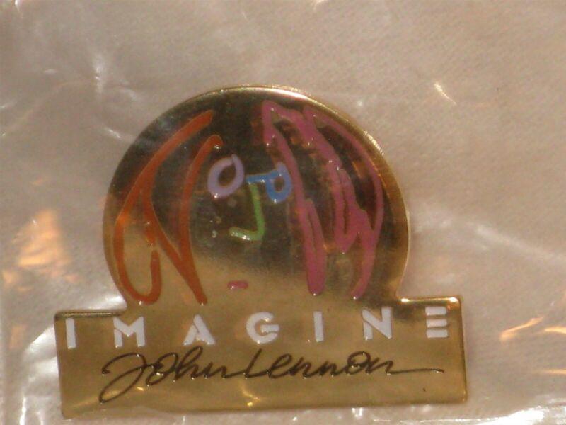 "The Beatles John Lennon Portrait 1988 Imagine 1 1/8"" Metal Pin Button SEALED"