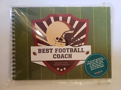 """Recognition Gifts (FOOTBALL GIFTS - Recognition Award Booklet for Being the """"Best Football Coach"""