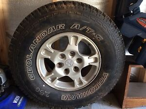 Pajero rim tyre spare Oakdowns Clarence Area Preview