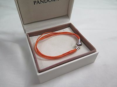 New Pandora Orange Med  Multi Strand Cord Charm Bracelet 590715COEM M2 Halloween