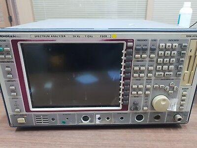 Rohde Schwarz Fseb30 Spectrum Analyzer 9 Khz To 7 Ghz - Defected Unit.