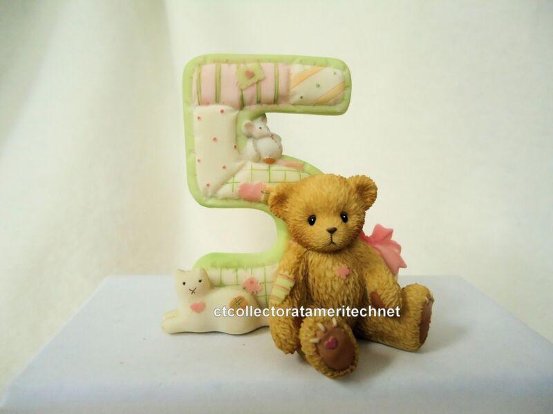 Cherished Teddies Teddies To Cherish Number Age 5 2004  NEW