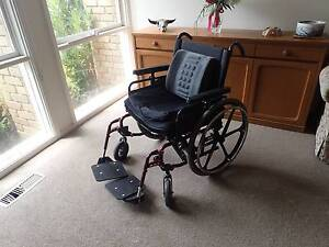 Wheelchair with Jay 3 Pressure Cushion & Footrest Elevating Left Wantirna Knox Area Preview