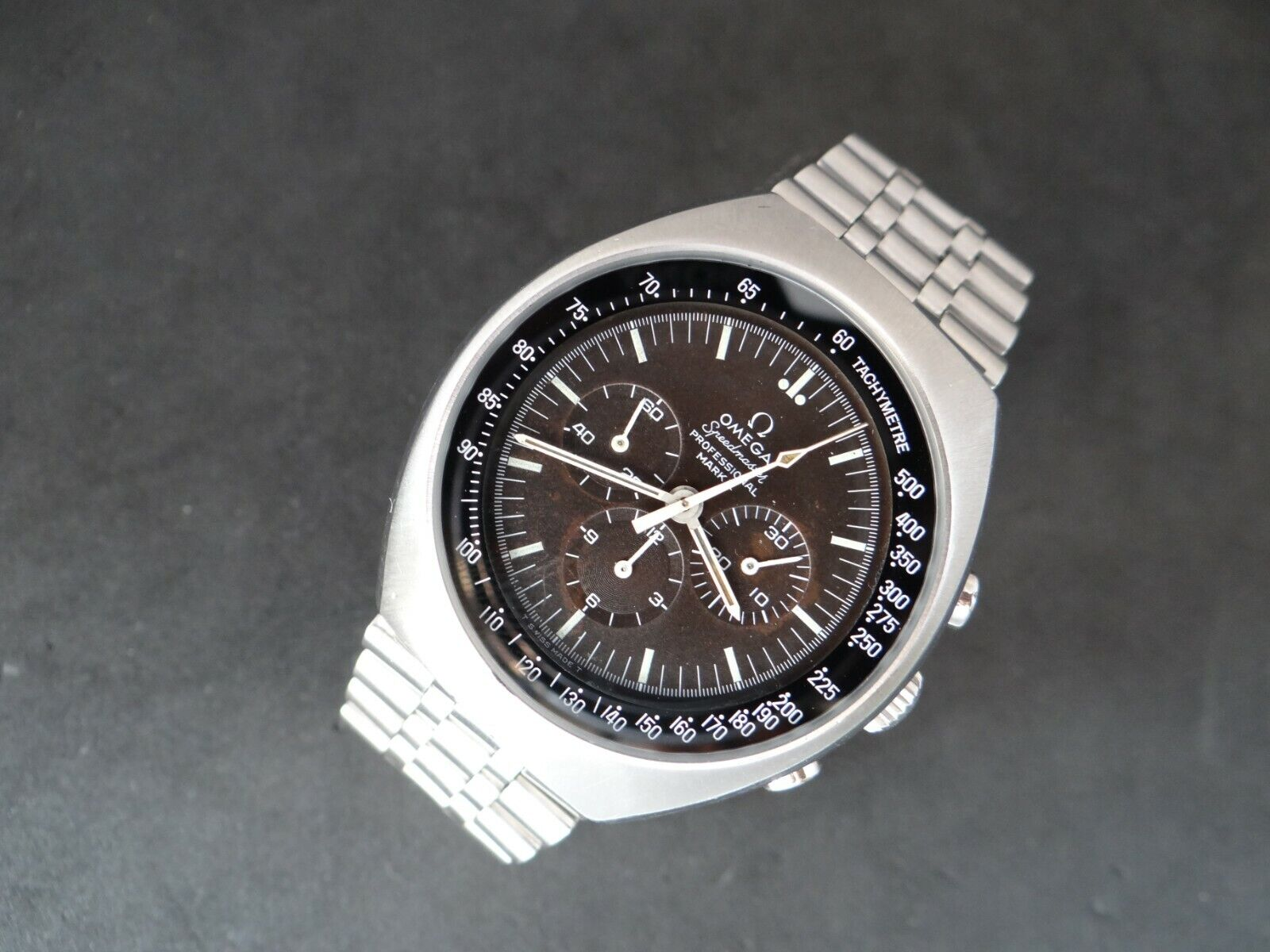 VINTAGE OMEGA SPEEDMASTER 861 MARK II TROPICAL BROWN DIAL CHRONOGRAPH 145.014 - watch picture 1