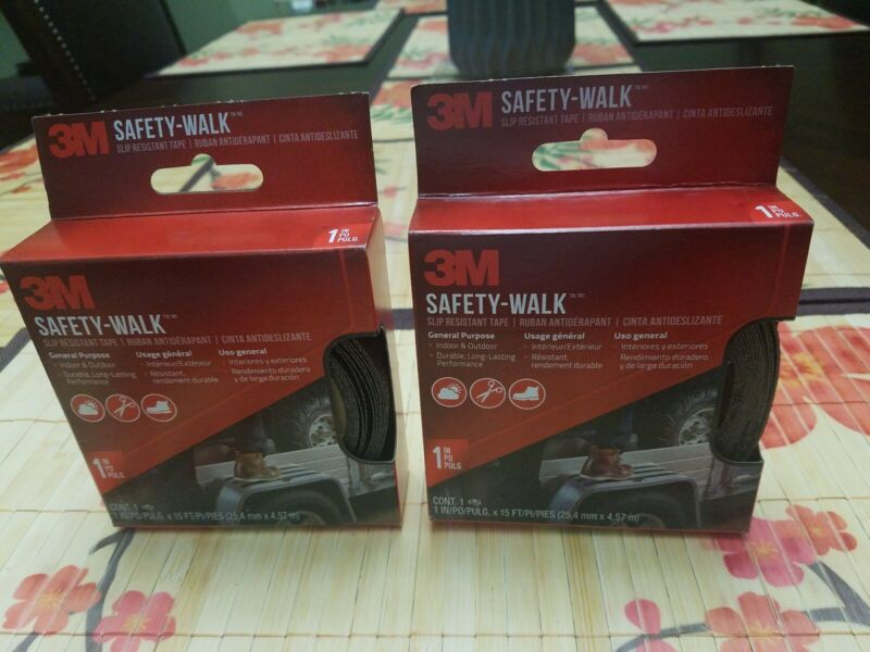 "2-Pack 3M Safety-Walk Slip Resistant Tape Indoor Outdoor 610B-R1X180 1"" x 15"