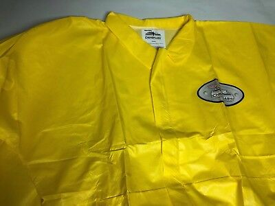 3 International Enviroguard Collared Coverall Elastic Cuff Chemsplash Yellow 4xl