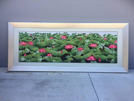 Stunning Country Farmhouse - Floral Picture - Huge Frame