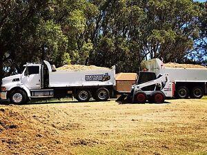 Huntons Earthworks... Tipper Truck Pig Trailer Bobcat Excavator Hire Carabooda Wanneroo Area Preview