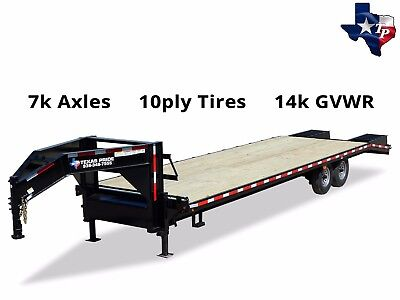 Brand New Texas Pride 8 12 X 25 205 Gooseneck Equipment Trailer 14k Gvwr