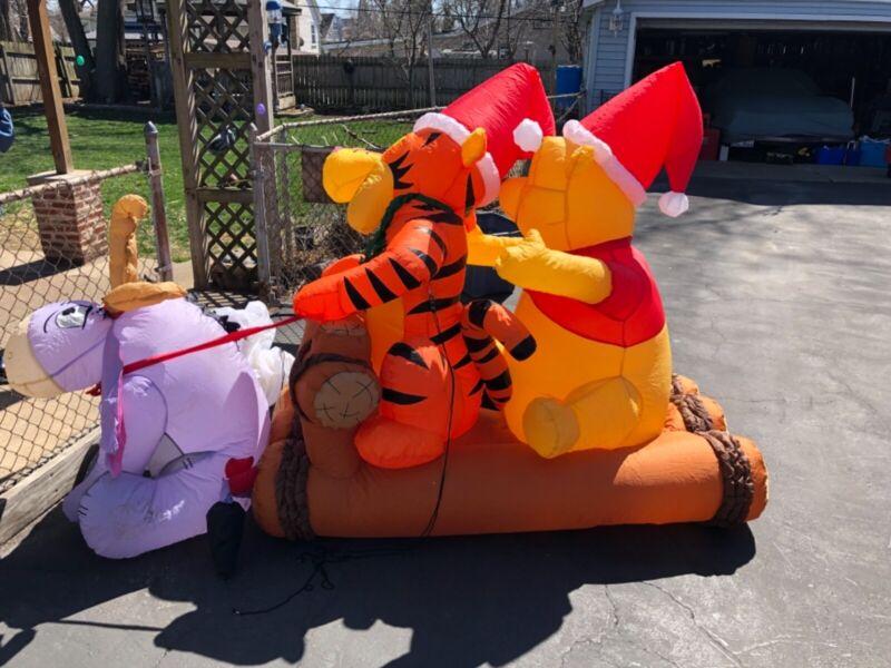 Gemmy Disney Winnie the Pooh Tigger Eeyore Christmas 8 ft Outdoor Inflatable