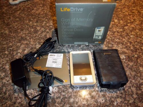 Palm LifeDrive Handheld PDA  4GB Hard Drive Cables CD Power & Case in Box