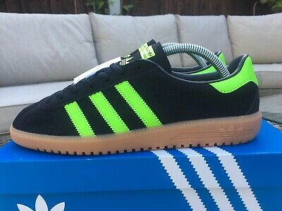 adidas Bermuda Black & Green  Suede Size 8 Retro 80s Football Casuals BNIB