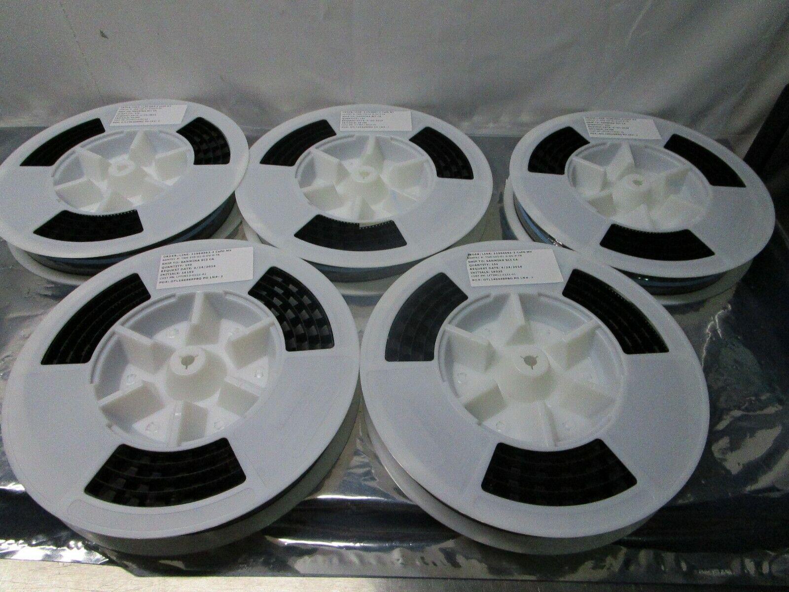 1 Lot of 750 Samtec TSM-105-01-G-DV-P-TR Conn Unshrouded Header, 102436