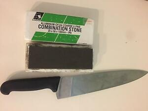 Victorinox carving knife and wet stone Cairns Cairns City Preview