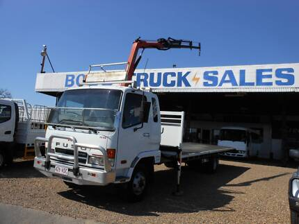 2005 Mitsubishi FK 600 Tray with Crane Truck Rocklea Brisbane South West Preview